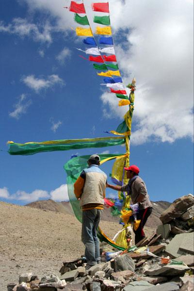 Trekking al Valle de Markha banderas