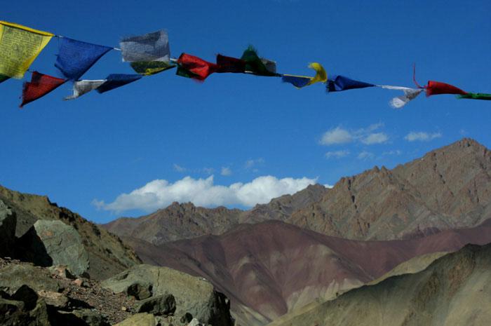 markha-valley-banderas Mejores lugares para visitar en Ladakh, India