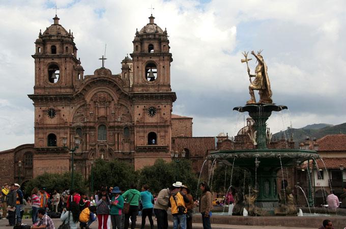 church cusco backpacking in Peru. travel guide