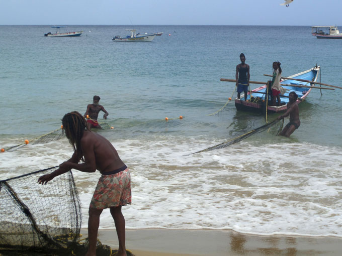 castara fishermen backpacking in trinidad and tobago