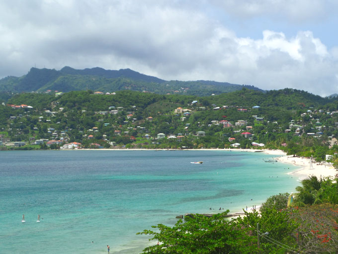 Grand anse beach backpacking in grenada