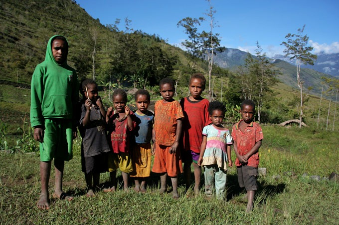 niños papua Valle de Baliem