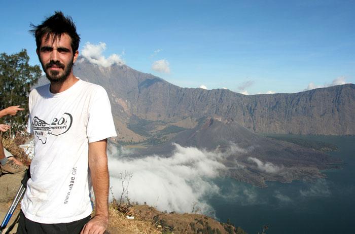 Al borde del crater Trekking al monte rinjani