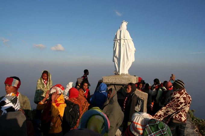 virgen maria cima Trekking al Monte Ramelau