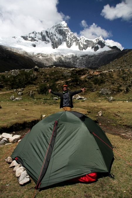 camping campsite campground Santa Cruz trek on a budget