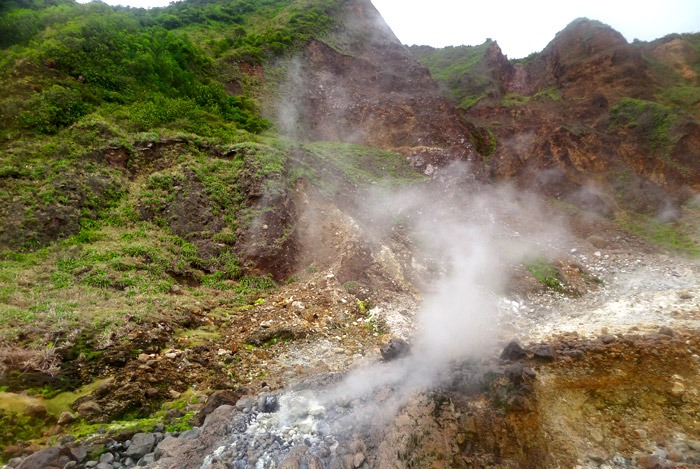 hiking boiling lake in dominica valley of desolation