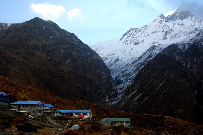 trekking al campo base del annapurna machapuchare