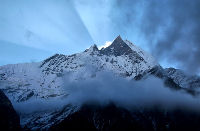 annapurna base camp sanctuary machapuchare