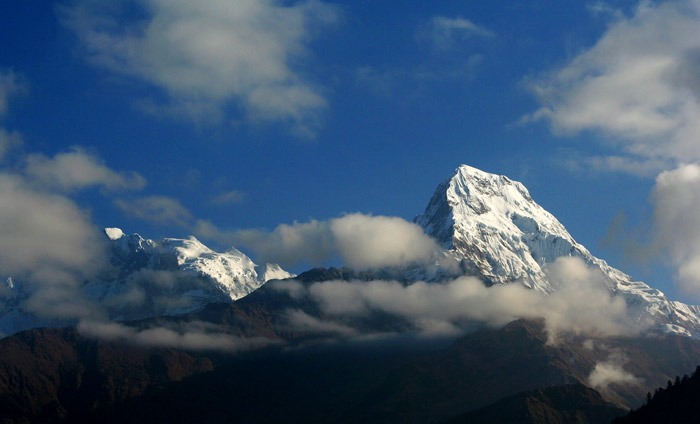 On the way from Poon hill to Ghorepani