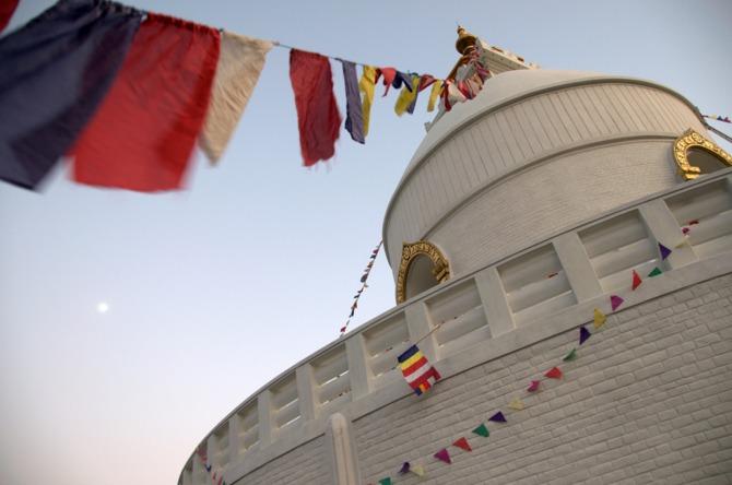 World Peace Pagoda, Pokhara. photo by ngotoh. flickr