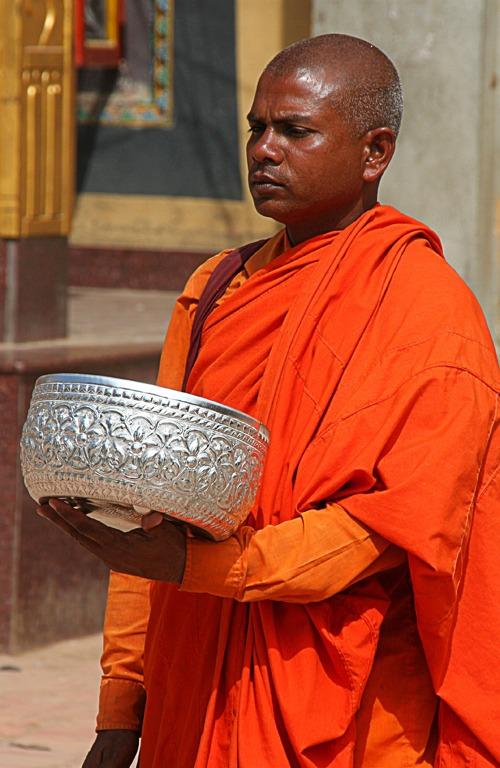 monk boudhanath best places to visit in kathmandu