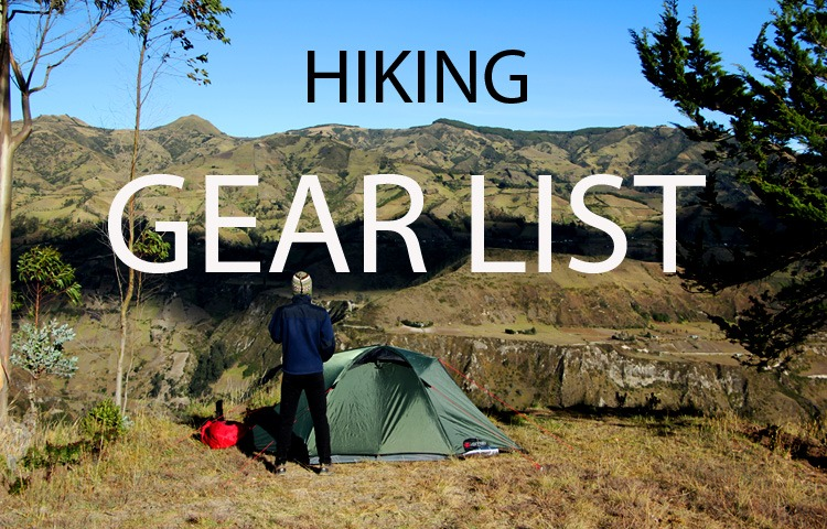 Best Hiking gear list for all your treks