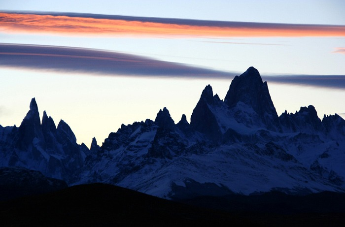 fitz roy trek sunset