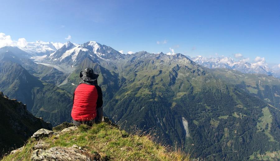 Mont Blanc from sentier de chamois