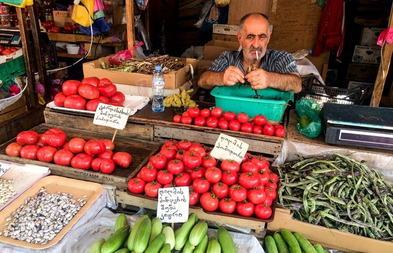 market in tbilisi