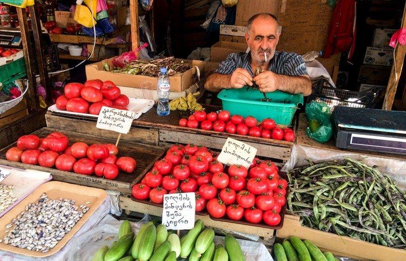 mercado en tbilisi