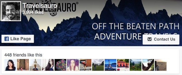 Facebook Like Travelsauro