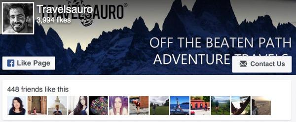 Facebook Like Travelsauro